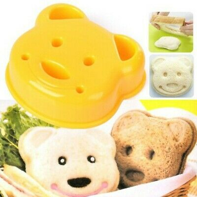 Little Plastic Bear Shape Sandwich Bread Cake Mold Maker DIY Cutter Mould • 2.92£