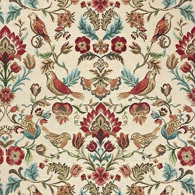 £14.50 • Buy Tapestry Fabric William Bird Floral Upholstery Furnishings Curtains 140cm Wide