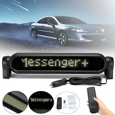 White Digital LED Car Programmable Message Sign Moving Scrolling Display Board • 25.99£