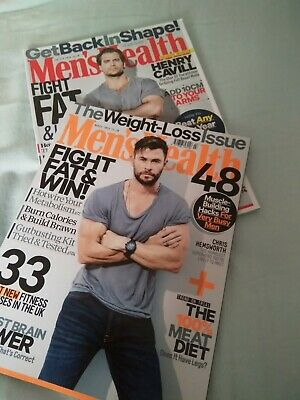 2 X Mens Health Magazines 2019 & 2020 • 1.50£
