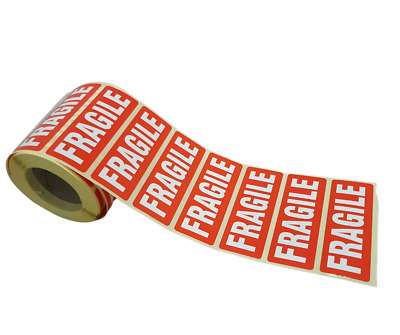 Fragile Parcel Labels/Stickers Permanent Self Adhesive 89 X 32mm   FREE Shipping • 3.19£