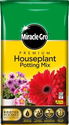 £7.99 • Buy Miracle Gro Premium Houseplant Potting Mix Compost 10L Hanging Basket Flower Bed