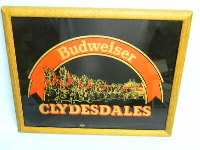$ CDN31.57 • Buy Vintage 1986 Budweiser Clydesdales Mirror Beer Sign Anheuser-busch St. Louis Mo.
