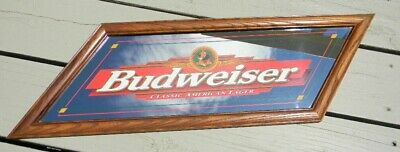 $ CDN29.03 • Buy Vintage Budweiser Classic American Beer Mirror Sign Anheuser-busch St. Louis Mo.