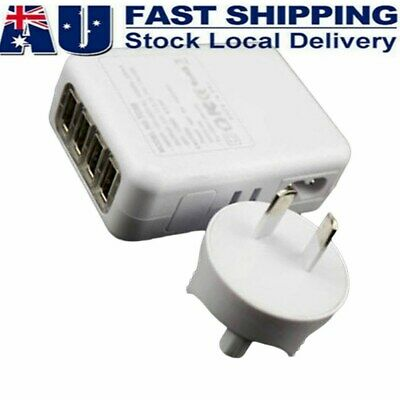 AU15.18 • Buy 5V 2.1A 10W 4 Port USB Travel Home Wall Charger AC Adapter For Phone  AU Plug