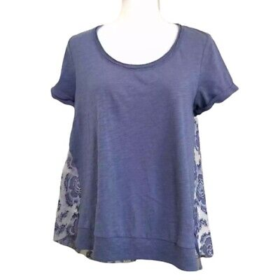 $ CDN44.58 • Buy Anthropologie Little Yellow Button Women's Short Sleeve Floral Top Size M