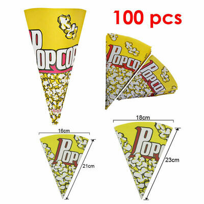 100x Popcorn Boxes Movie Pack Hollywood Birthday Party Home Cinema Paper Bags • 4.99£