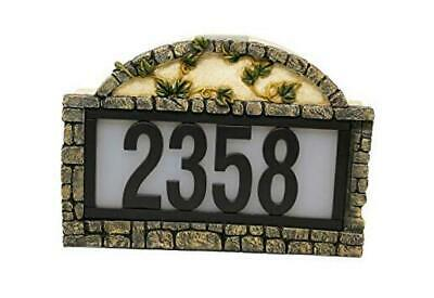 Solar Power Lighted House Numbers Address Sign - LED Illuminated Outdoor Ivy • 52.46£