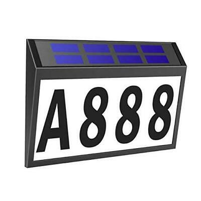 Solar House Number Light,  Lighted House Numbers Sign Plaque Address Numbers  • 27.07£