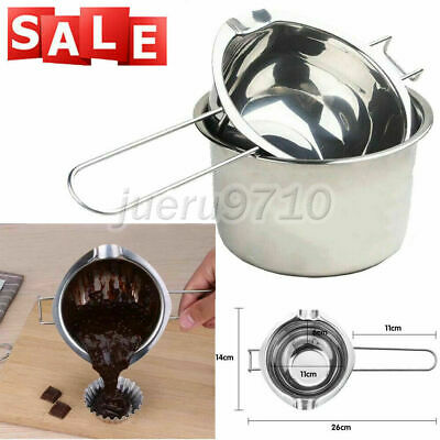 2x DIY Stainless Steel Wax Melting Pot Double Boiler For Candle Soap Making Tool • 6.95£