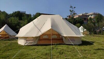 AU1160 • Buy AU Shipped Large Waterproof Cotton Canvas Twin Emperor Bell Tent Glamping Tent