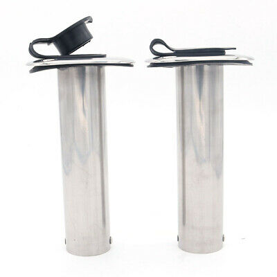 AU41.67 • Buy 2X NEW Fishing Rod Holders 316 Stainless Steel Flush Mount 90 Degree Fish Boat