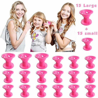 30x Magic Heat Roller Hair Care DIY Tools## Roller Silicone No Hair Curlers Soft • 7.59£