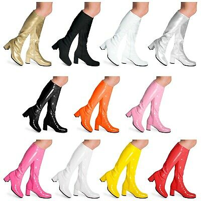 £19.95 • Buy Womens Ladies Mens Knee High Disco GoGo 60's 70's Party Fancydress Boots