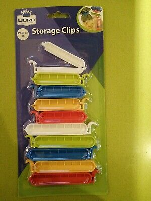 10 Bag Clips Reusable Tie Plastic Storage Sealing Food Freezer Fridge Fresh Pack • 1.79£