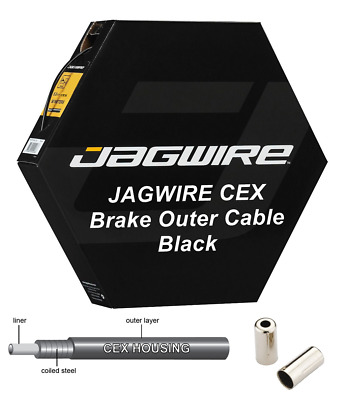 £5.49 • Buy JAGWIRE CEX Black 5mm Bike Brake Outer Cable Housing Polymer Lined - Metal Ends