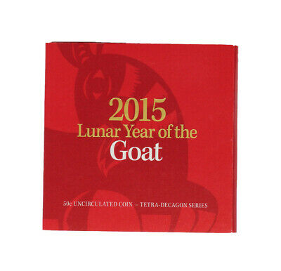 AU1.04 • Buy 2015 Australian 50c Fifty Cent Lunar Year Of The Goat Coin Carded D1-2868