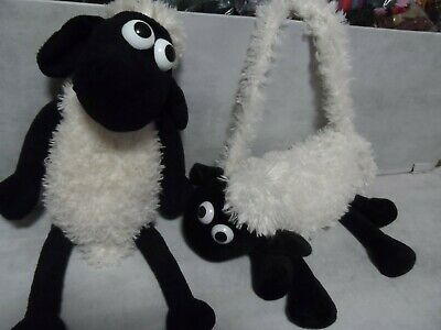 TALKING SHAUN THE SHEEP SOFT TOY & Shoulder Bag Working Order Wallace & Gromit • 0.99£