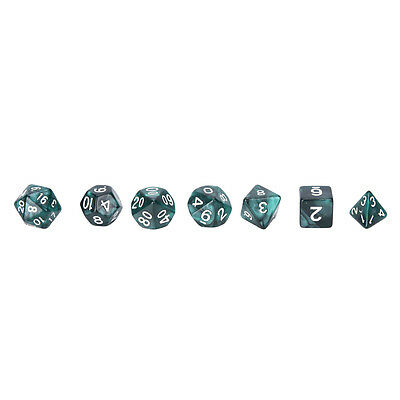 AU10.05 • Buy 7Pcs D10 Multi-Sided Gem Dice Die For RPG Dungeons & Dragons DND D&D Game Set*jn