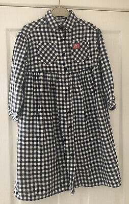 Marks And Spencers Black & White Check Dress In Age 6 • 3£