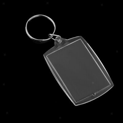 £4.29 • Buy 10x Blank Clear Acrylic Keyrings-Make Your Own Photo Keychains-Insert Any Photos