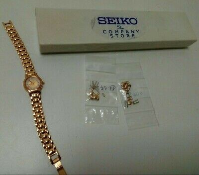 Ladies Seiko Watch Gold Coloured Metal Strap With Spare Links Boxed  • 4.99£