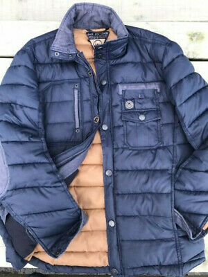 Duck And Cover Jacket Navy Large Puffa VGC • 30£