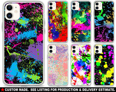 AU32.19 • Buy IPHONE Or SAMSUNG CELL PHONE CASE - Splatter Paint #1 Retro 80s 90s Neon Gift