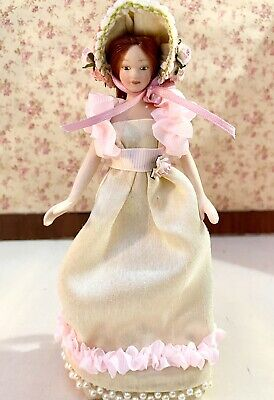 Dolls House Regency Style Lady / Doll With Matching Removeable Bonnet  • 25£