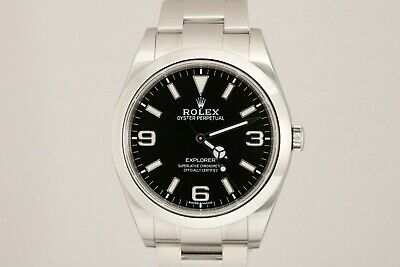 $ CDN9465.44 • Buy Rolex Explorer Stainless Steel Automatic 39mm Watch 214270 Full Lume With Card
