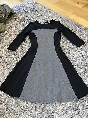 H&M Black Long Sleeve Skater Style Two Tones Get Dress Size 6 • 2.50£