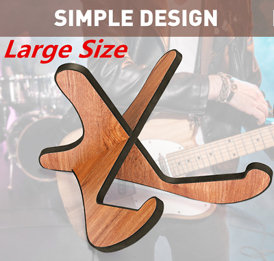 AU24.51 • Buy Large Guitar Stand Shelf Wooden X-Frame Sturdy Instrument Universal Stand Holder