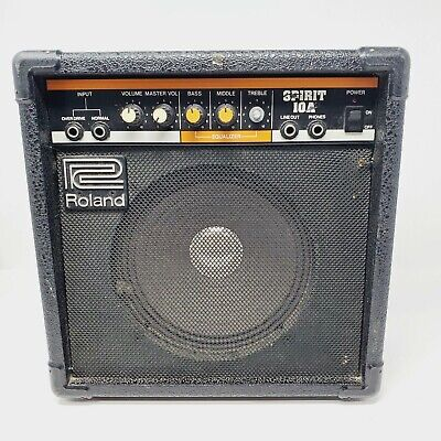 AU125.53 • Buy Roland Spirit 10A Guitar Amplifier Genuine Authentic Powers On
