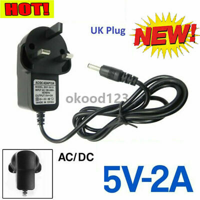 AU3.58 • Buy 5V 2A Volt Main Power Supply AC/DC Adapter 3 Pin Charger UK Plug Black