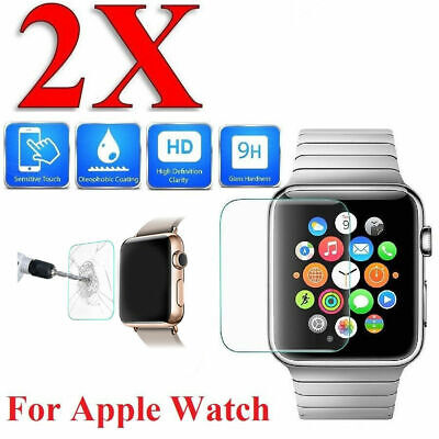 $ CDN1.72 • Buy 2 Pack Tempered Glass Screen Protector For Apple Watch Series 3/4/5 38-44mm Ac