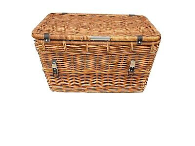 Very Large Wicker Storage Trunk | Chest Toy Basket 77cm X 46cm X 46cm • 55£