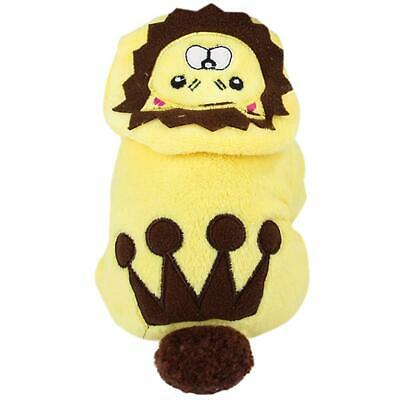 Cartoon Lion Hoodie Costume Dog Cat Clothes Winter Warm Jacket Pet Supply • 8.62£