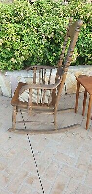 AU149 • Buy Antique Vintage Oak Rocking CHAIR.