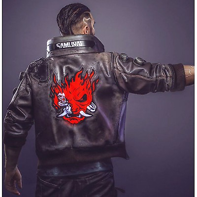 $ CDN131.50 • Buy Cyberpunk 2077 Cosplay Costume Jacket Mens Faux Brown Leather Embroidery Coat
