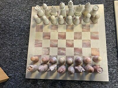 £46 • Buy Hand Carved Soapstone CLASSIC Chess Set *NO BOARD