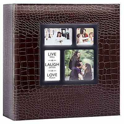 Ywlake Photo Album 1000 Pockets 6x4 Photos Croco, Extra Large Size Leather Cover • 37.25£