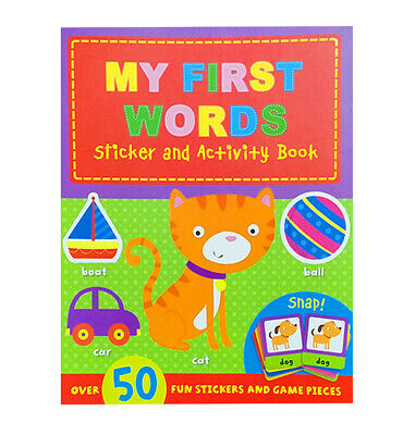 Quality Childrens My First Words Educational Sticker Activity Book Pre-school • 3.99£