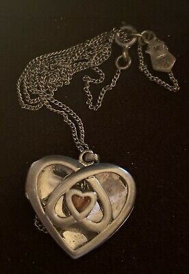 Clogau Silver And Welsh Gold Necklace Open Heart -celtic Design - Tree Of Life • 40£