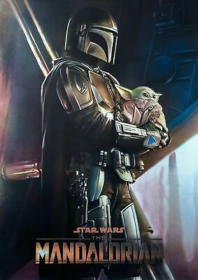 £7.99 • Buy The Mandalorian Star Wars Baby Yoda A4/A3 Movie Poster Art High Quality UK FAST