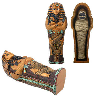 £11.41 • Buy Ancient Egyptian King Tut Sarcophagus Coffin With Mummy Figurine ONE Coffin