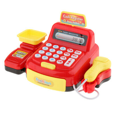 Play Cash Register With Scanner And Toy Groceries, Age 3 And Above Red • 7.89£