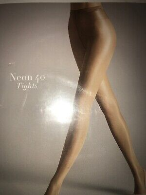 Wolford Neon 40 Tights Pantyhose Color: Gobi Size: Small 18391 - 12 • 23.60£