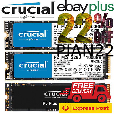 AU85 • Buy Crucial P1 P2 P5 250GB 500GB 1000GB 2000GB M.2 PCIe SSD NVMe Solid State Drive