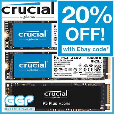 AU80 • Buy Crucial P1 P2 P5 P5 Plus 250GB 500GB 1TB 2TB M.2 PCIe SSD NVMe Solid State Drive