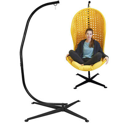 Large Heavy Duty Garden Hammock C-stand Hanging Swing Egg Chair Frame With Base • 99.98£